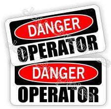 Hard Hat Stickers | Danger OPERATOR | Funny Heavy Equipoment Helmet Decals