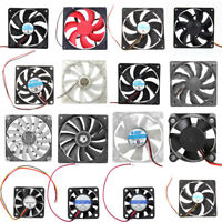 40-120mm DC 12V 2/3/4Pin Brushless Quiet PC Computer Cooler Cooling Case Fan LOT