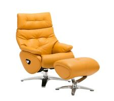 Leather Sofa Recliner Chair Adjustable Luxury Armchair Lounge Yellow