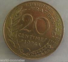 20 centimes marianne 1974 : SUP : pièce de monnaie française