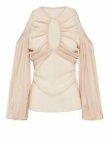 NEW ALICE MCCALL SPELL LONG SLEEVE TOP IN NUDE  -SIZE 12 - RRP $245