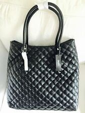 DKNY Ladies Leather  Large Quilted Black Colour