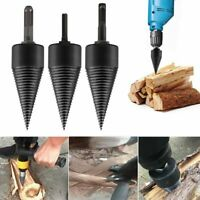US Twist Firewood Drill Bit High Speed Wood Splitter Screw Splitting Cone Driver