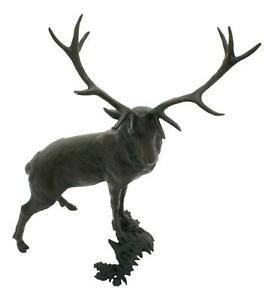 """Pride of the Glen"" Stag Deer Solid Bronze Sculpture Richard Cooper 1136"