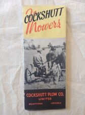 Vintage Cockshutt Tractors And Farm Equipment Mower Catalog Brochure