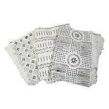 Handwoven African Mud Cloth Bambara | African Fabrics (White/Black)