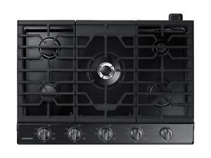 "Samsung 30"" Fingerprint Resistant Black Stainless Steel Gas Cooktop"