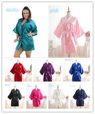 *New Women Silk Satin Robes  Wedding Bridesmaid Bride Gown kimono robe*