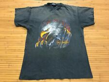 New listing Large - Vtg 1990 Harley Davidson 3D Emblem Single Stitch Cotton T-Shirt Made Usa