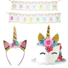 Unicorn Cake Topper Headband Banner Quality Crafted Party Decorations Supplies