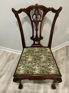 Antique Chippendale Chairs - Solid Mahogany (Sold as a set of 6 chairs)