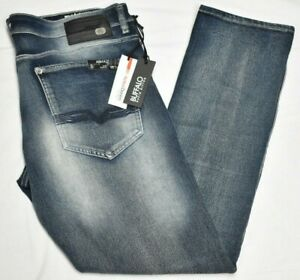 Buffalo David Bitton Jeans Men Ash-X Slim Stretch Active Denim Bleach Blast Q263
