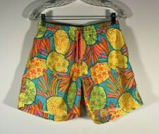 Chubbies Abstract Water Color Pineapple Print Swim Trunks Men Size L