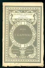 BERNI FRANCESCO I CAPITOLI UTET 126 CLASICI ITALIANI  12 POESIA