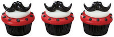 12 Moustache Cupcake Ring ........ Love These!