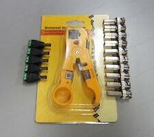 Siamese Cable Kit: 1x Cable Stripper, 10x BNC Twist-on, 5x DC Jack-FREE SHIPPING