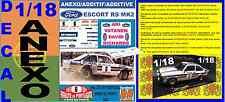 ANEXO DECAL 1/18 FORD ESCORT RS 1800 MK II ROTHMANS ARI VATANEN R.PORTUGAL (01)
