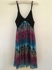 CASHMERE PATTERNED SUN DRESS/TOP SIZE LARGE