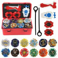 Beyblade Burst Set Storage Box W/ 12 Styles Bey Blade 3 Launchers 1  Handle Gift
