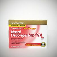 GoodSense Nasal Decongestant PE (Compare to Sudafed PE) - 36 Tablets