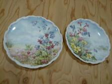 2 Royal Albert Flowers of the Hedgerow Primrose Bluebell & Harebell Plates