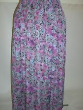 calf length purple pink blue paisley print soft viscose skirt size16+ summer hol