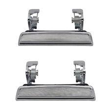 Outside Door Handles Pair - Front Left Driver + Right Passenger - Chrome Metal