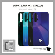 Vitre arriere cache batterie pour Huawei Nova 5T avec adhesif et logo