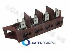 4 POLE HIGH TEMPERATURE TERMINAL CONNECTOR STRIP BLOCK 40A OVENS FRYER ETC