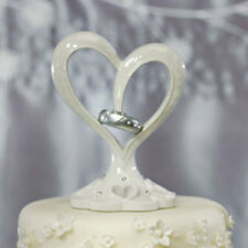 Stylized Heart & Wedding Bands Wedding Cake Topper Weddingstar Romantic