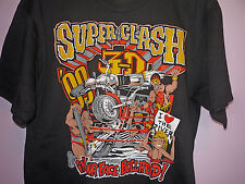 NEW Vintage 90s American Wrestling Association AWA Super Clash T Shirt Black L