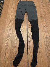 ALO Yoga Goddess Ribbed Leggings Gray/Black Womens Size XS