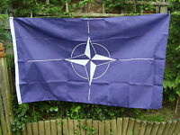 BRITISH ARMY,PARA,SAS,RAF,RM,SBS - Famous NATO Badge On Dark Blue Military Flag