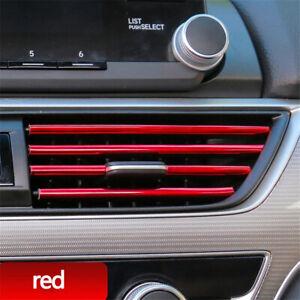 10x Air Outlet Conditioner Car Stickes Auto Vent Strip Grille Decoration Trim