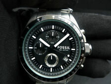 New Old Stock - FOSSIL DECKER CH2600 - Black Dial Chronograph Quartz Men Watch