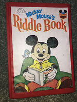 MICKEY MOUSE'S RIDDLE BOOK Vintage Book 1972 DISNEY WONDERFUL WORLD OF READING