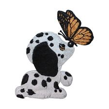 ID 2757 Dalmatian Dog Puppy Butterfly Breed Embroidered Iron On Applique Patch