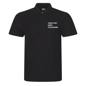 Embroidered Polo Shirt with your company name or logo -