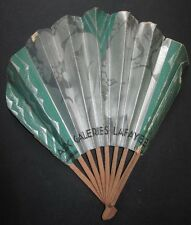 EVENTAIL PUBLICITAIRE LES GALERIES LAFAYETTE 1930 ANCIEN ADVERTISING FRENCH FAN