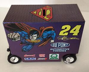 1/16 Jeff Gordon #24 Dupont Superman DC Comic Pit Wagon 1999 Action Diecast Bank