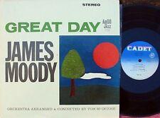 James Moody US 2ND press LP Great day NM Cadet LPS725 Jazz Hard Bop