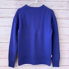 HUNTER Mens Size S Merino Wool Cashmere Knit Pullover Sweater Blue