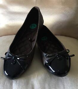 Michael Kors Melody Toe Cap Ballet Leather Flats Shoes/ Size 6-9