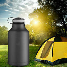 NEW 64oz Double Wall Vacuum Insulated Stainless Steel Water Bottle Beer Growler.