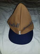 """Funny Football Shaped Hat """"Football Fanatic"""" Snapback OSFA NWT Made in USA"""