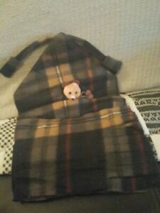 #145 NEW Winter Baby Kids Girl Boy Toddler Warm Plaid Beanie Hat Cap And Scarf