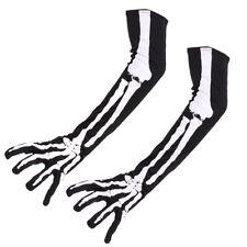 Skeleton Gloves Long Bone Sleeve Costume Cosplay Halloween Skull Gloves HOTSALES