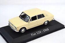 FIAT 124 1968 LIGHT BEIGE 1:43 MAGBA12 BLISTER PACK