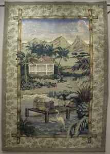 "POLYNESIAN PALMS RETREAT-Large Tapestry, 54"" x 80"""