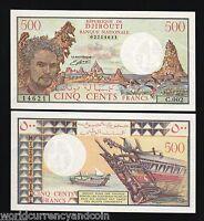 DJIBOUTI 500 FRANCS P36 B 1988 w/sig BIRD BOAT SHIP UNC ANIMAL MONEY BANK NOTE